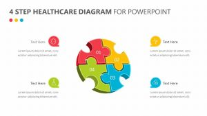 4 Step Healthcare Diagram for PowerPoint