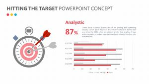 Hitting the Target PowerPoint Concept