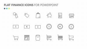 Flat Finance Icons Slide 4