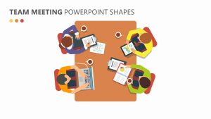 Team Meeting PowerPoint Shapes