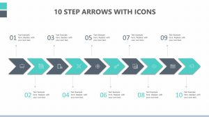 10 Step Arrows With Icons