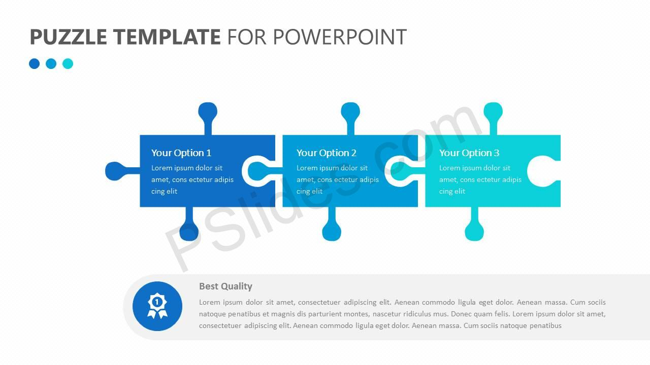 Puzzle Template for PowerPoint - Pslides