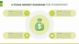 4 Stage Money Diagram for PowerPoint