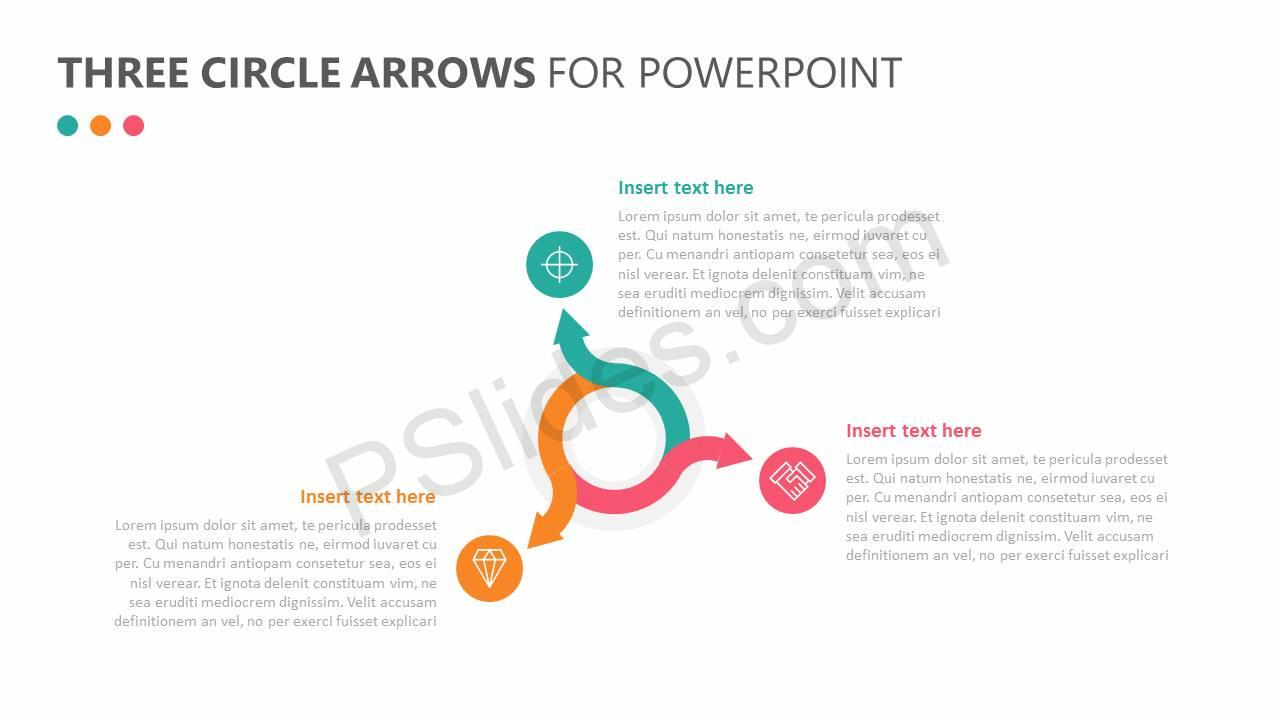powerpoint circular arrow