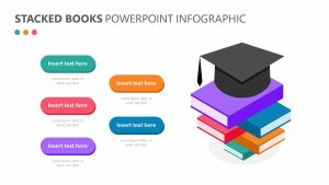 Stacked Books PowerPoint Infographic