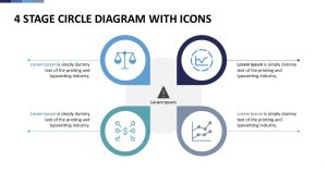 Free 4 Stage Circle Diagram With Icons