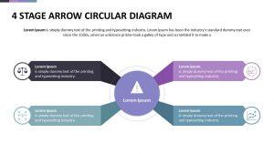 4 Stage Arrow Circular Diagram