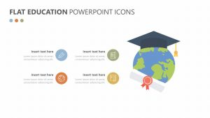 Flat Education PowerPoint Icons