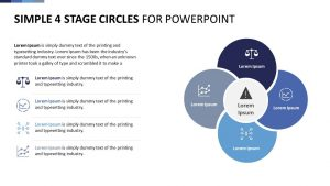 Simple 4 Stage Circles for PowerPoint