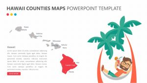 Hawaii Counties PowerPoint Map