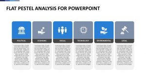 Flat PESTEL Analysis for PowerPoint