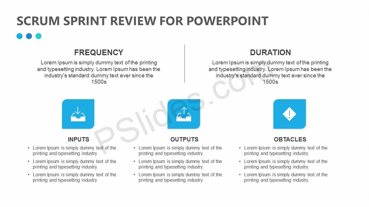 free scrum sprint review for powerpoint pslides. Black Bedroom Furniture Sets. Home Design Ideas