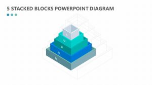 5 Stacked Blocks PowerPoint Diagram