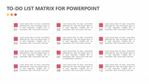Free To-do List Matrix for PowerPoint