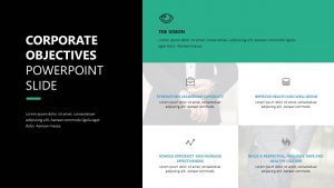 Corporate Objectives PowerPoint Slide