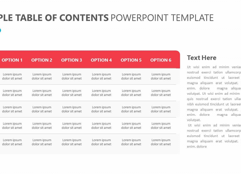Simple table of contents powerpoint template slide2 pslides post navigation maxwellsz