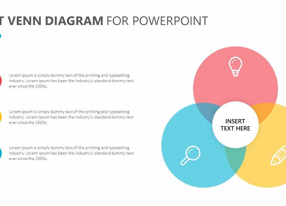 Flat Venn Diagram For Powerpoint Slide2 Pslides