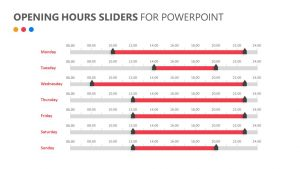 Opening Hours Sliders for PowerPoint