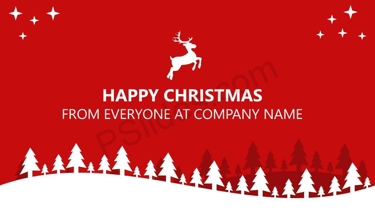 powerpoint christmas card