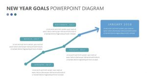 Free New Year Goals PowerPoint Diagram