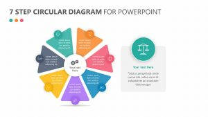 7 Step Circular Diagram for PowerPoint