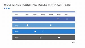 Multistage Planning Tables for PowerPoint