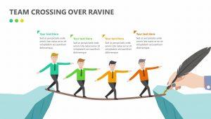 Team Crossing Over Ravine Slide 1