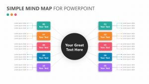 Simple Mind Map for PowerPoint Slide 1