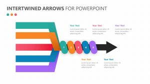 Intertwined Arrows for PowerPoint Slide 1