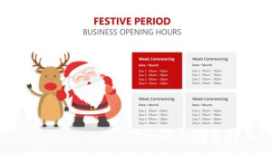 Festive Period Opening Hours for PowerPoint