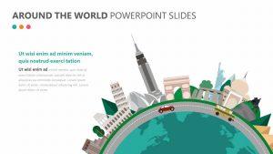 Around the World PowerPoint Slide