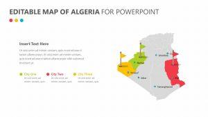 Editable Map of Algeria for PowerPoint