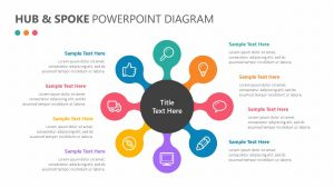 Hub and Spoke PowerPoint Diagram