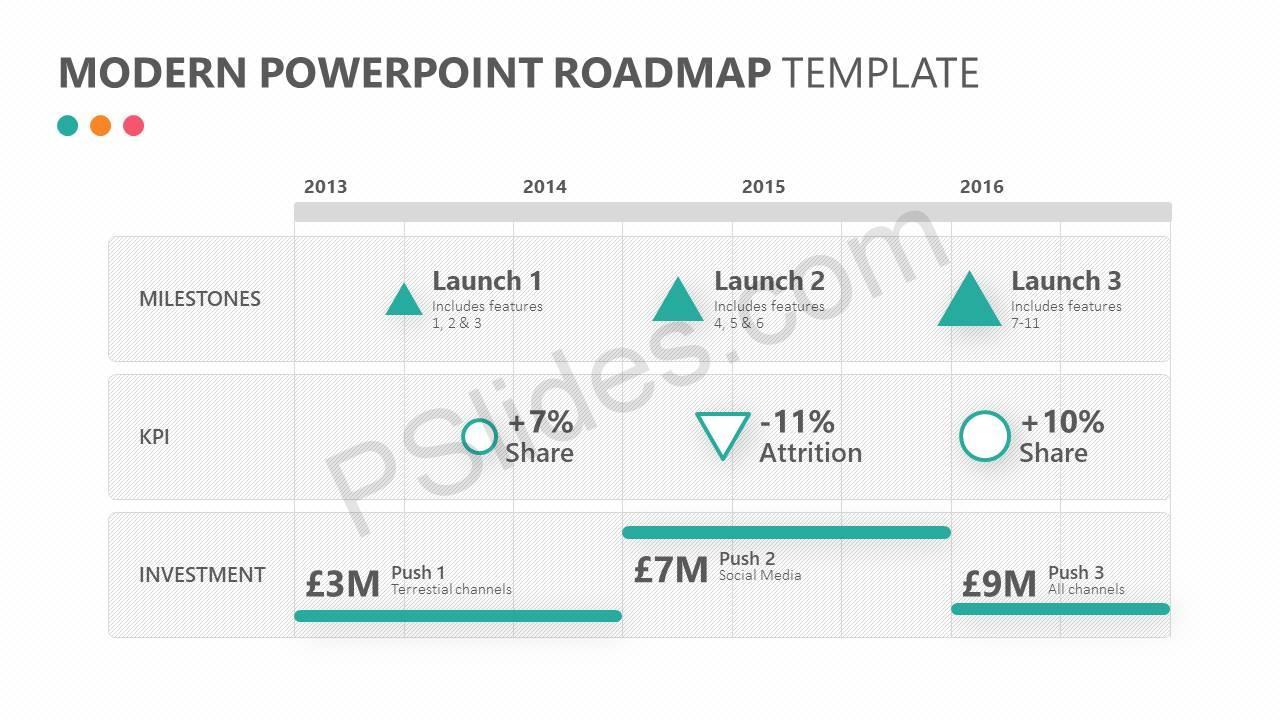 Modern powerpoint roadmap template pslides modern powerpoint roadmap template slide1 toneelgroepblik Choice Image