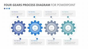 Four Gears Process Diagram for PowerPoint