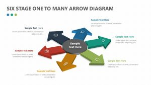 Six Stage One to Many Arrow Diagram