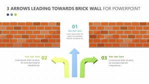 3 Arrows Leading Towards Brick Wall