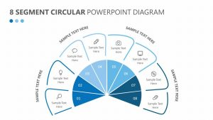 8 Segment Circular PowerPoint Diagram