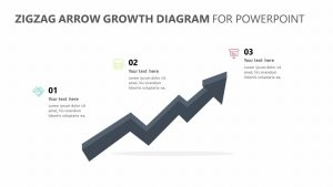 Zig Zag Arrow Growth Diagram for PowerPoint
