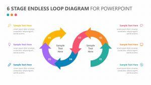 6 Stage Endless Loop Diagram for PowerPoint