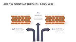 Arrow Pointing Through Brick Wall