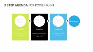 3 Step Agenda for PowerPoint