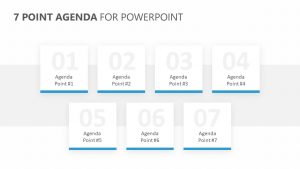 7 Point Agenda for PowerPoint