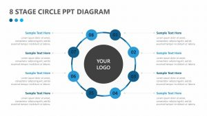 8 Stage Circle PPT Diagram