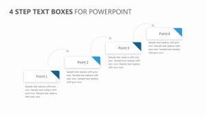 4 Step Text Boxes for PowerPoint