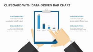 Clipboard with Data-Driven PPT Bar Chart
