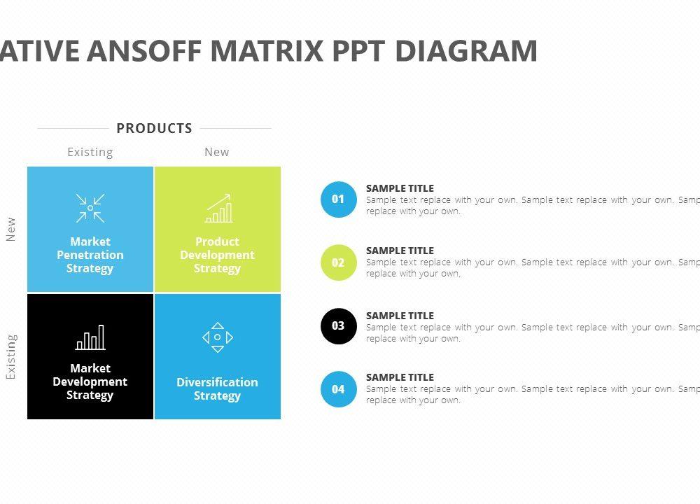 Creative Ansoff Matrix Ppt Diagram Pslides