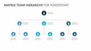 Matrix Team Hierarchy for PowerPoint