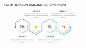 4 Step Hexagon Timeline for PowerPoint