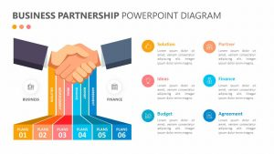 Business Partnership PowerPoint Diagram